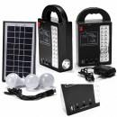 Kit Solar Lampa 20LED, Lanterna LED 1W, USB, 3 Becuri, 4V GDPLUS GD999