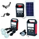 Kit Solar Lampa 20LED SMD, Frontala, Radio, SD, USB, 220V YJ1962HTSYK