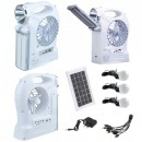 Kit Solar Lampa LED 1W+28SMD, 3 Bec, Ventilator, Radio, USB YJ1906TSYK