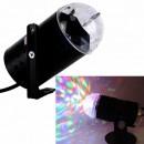Lampa Rotativa cu 3 LEDuri 1W Multicolore Efect Disco