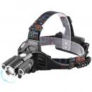 Lanterna Frontala 3LED 5W Capete mobile Acumulatori Zoom 12V 220V MX602