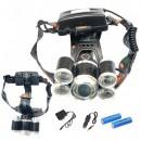 Lanterna Frontala 5LED 5W cu Zoom 2x18650 12V 220V MX905AT6