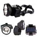 Lanterna Frontala LED 1W Incarcare Solara si 220V GDLite GD216S