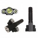 Lanterna LED 3W cu Capete Rotative, Magnet si Acumulator 18650 BLG35T6