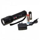 Lanterna LED 5W cu Acumulator, Zoom si Panou LED Alb Rosu 220V ZYF504R