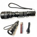 Lanterna LED 5W cu Zoom, Acumulator 18650 Incarcare USB BL603L2