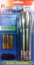 Lanterna metalica Swisslite 1W LED Edixeon SET cu baterii, snur si husa incluse