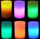 Lumanare Electrica din Ceara cu LED Colorat 10x8cm