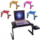 Masa Pliabila Reglabila pentru Laptop cu Blat si Accesorii Colorate T3