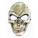 Masca de Halloween si Carnaval Argintie Aspect Metalic