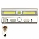Mini Lanterna 2x COB LED 3W Lampa Lucru pe Baterii cu Magnet si Scai