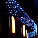 Perdea Luminoasa 5x1m 240LED Albastru Fir Negru P Flash 6029B