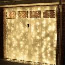 Perdea Luminoasa Craciun Exterior 3x3m 300LED Alb Cald Fir Incolor CL