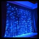 Perdea Luminoasa Craciun Exterior 3x3m 352LED Albastru FN IP44 P CL
