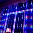 Perdea Luminoasa Ploaie 2.5x1.5m 230LEDuri Multicolore Viteza Reglabila BZ