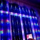 Perdea Luminoasa Ploaie Prelungibila 3x2.5m 504LED Multicolora Ext FI 6014