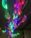 Pomisor de Craciun LEDuri Multicolore Decorate cu Frunzulite 160cm