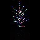 Pomisor de Craciun LEDuri Multicolore Decorate cu Pufuleti 160cm