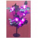 Pomisor Luminos de Craciun Flori Trandafiri 40cm 15LED Roz Statice TO