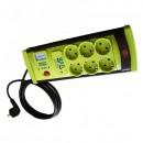 Prelungitor cu Protectie 6 Prize si USB, Cablu 3m, 3x1mm Vipex