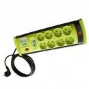 Prelungitor cu Protectie 8 Prize si USB, Cablu 5m, 3x1mm Vipex