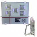 Proiector  100LED SMD T011 50W IP65 Alb Rece 220V WT
