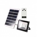Proiector LED 50W cu Panou Solar si Telecomanda Alb Rece