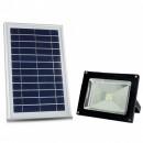 Proiector LED SMD 5050, 10W cu Panou Solar Alb Rece