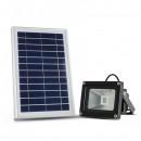 Proiector LED SMD 5050, 5W cu Panou Solar Alb Rece