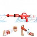 Pusca cu apa sub presiune si sticla pet pe post de rezervor Water Gun