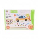 Puzzle 3D Educativ Copii 4in1 cu Masinute Toy Bricks 69914