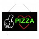 Reclama Luminoasa cu LEDuri tip Caseta Neon Pizza 24x44cm