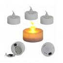 Set 10 Lumanari LED Pastila cu Baterii Lumina Alba Calda care Palpaie