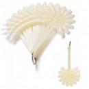 Set 10 Margarete Oja 120 Pozitii din Plastic Alb cu Inel Metalic M10BUC