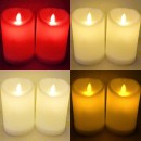 Set 12 Lumanari Electrice  cu LED care Palpaie 4 Culori 7x5cm