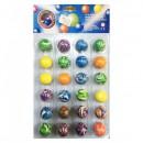 Set 24 Mingi Saritoare 3cm Diverse Culori Hi Bouncing Balls