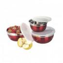 Set 3 caserole de Inox cu Capac Plastic Grunberg ILSB3