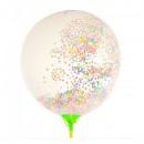 Set 5 Baloane Latex cu Confetti  Colorate pentru Petreceri