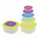 Set 5 Caserole Plastic pentru Alimente cu capac Grunberg GR3752