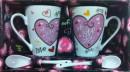 Set Cadou Valentine's Day cani We Love You cu lingurite