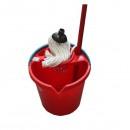 Set curatenie galeata plastic cu mop Sanitec GALM