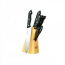Set cutite cu foarfeca si suport de lemn 7 piese Peterhof PH22433