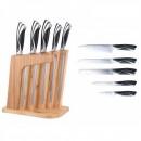 Set cutite inox cu suport Bambus 6 piese Peterhof PH22397