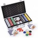 Set de poker 300 Chipuri Cutie aluminiu tip Servieta
