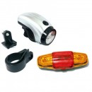 Set Lanterna LED si Stop Rosu Galben Semnalizare Bicicleta HY7158