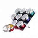 Set magnetic pentru condimente 10 piese Rainstahl BG RSSR870109