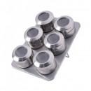 Set magnetic pentru condimente 7 piese Bohmann BH7817