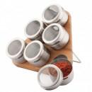 Set magnetic pentru condimente 7 piese Peterhof PH12787