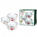 Set oale emailate cu capac 6 piese Reisz RZ412A