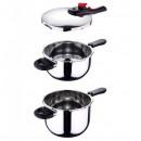 Set oale sub presiune inox 3 piese Chef's Sauce